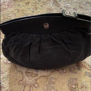 Black leather LEONELLO BORGHI Ladies Clutch